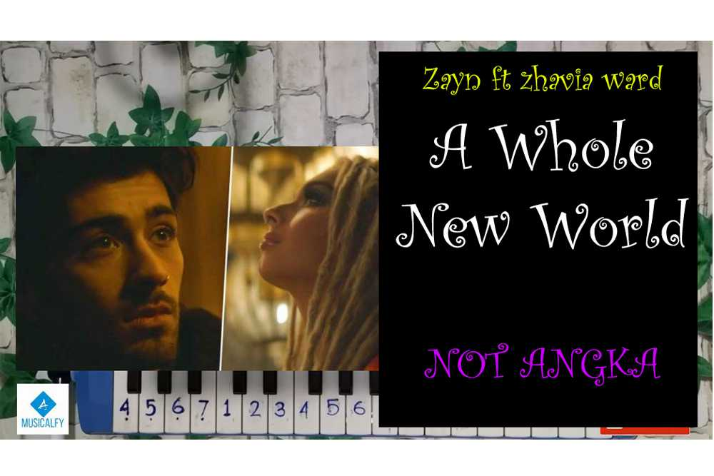 Lirik Lagu dan Not Angka A Whole New World versi Zayn feat Zhavia Ward